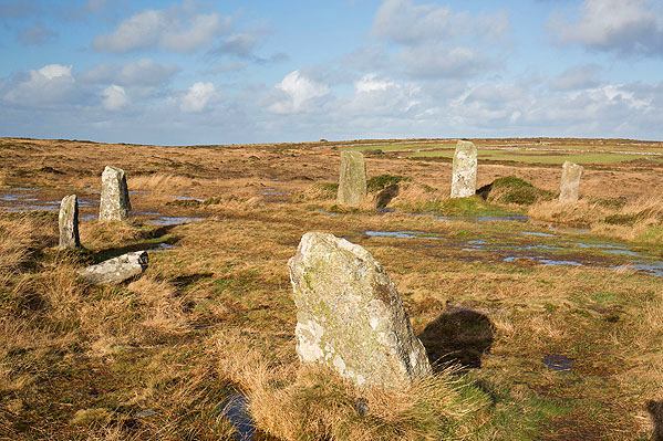 Boskednan Stone Circle / Nine Maidens