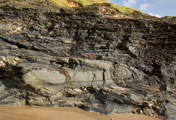 Isoclinal Folds - Godrevy