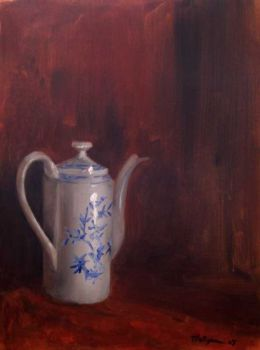 Tea pot on Red