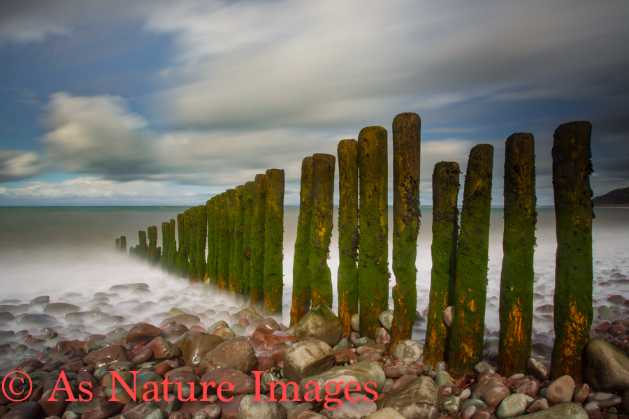 TIME AND TIDE ,GROYNES AT PORLOCK BEACH