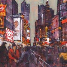 Dusk Times Square