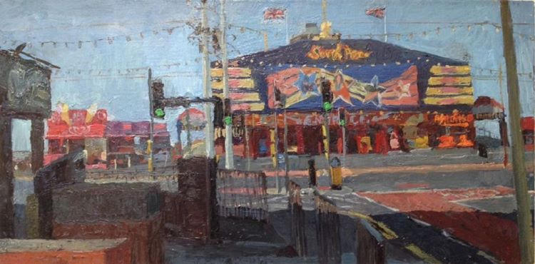 "South Pier Entrance, Blackpool. (10""X20"") SOLD"
