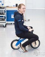 Jessie and her training wheels II