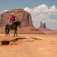 Cowboy, Monument Valley