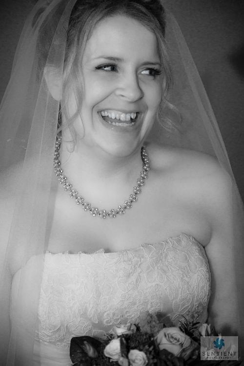 Charlotte, a lovely smiling bride
