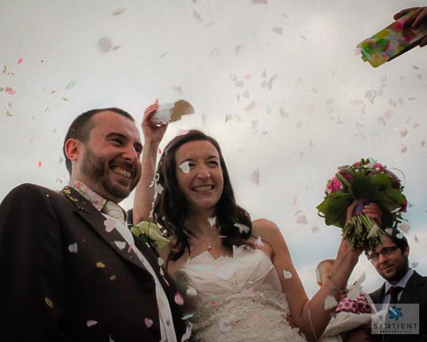 Bride & Groom Confetti Shower