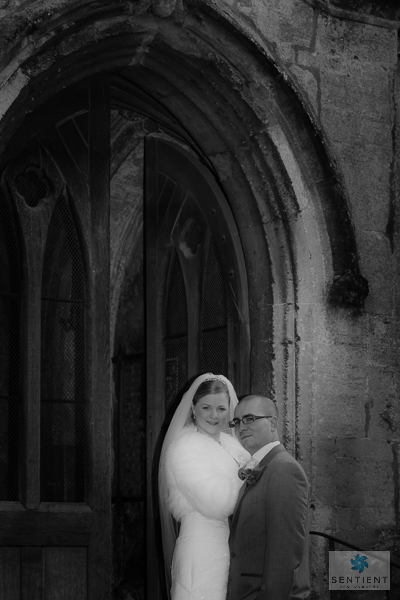 Bride & Groom at Church Doors
