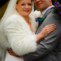 Bride & Groom Hug Portrait