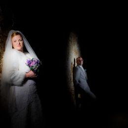 Bride & Groom Barn Spotlights