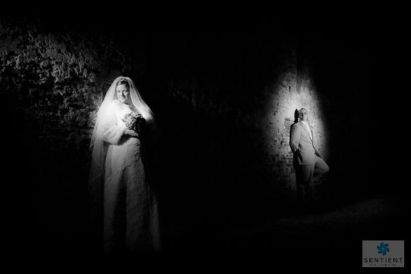 Mono Bride & Groom Barn Spotlights
