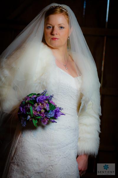 Bride In Barn 3/4 View