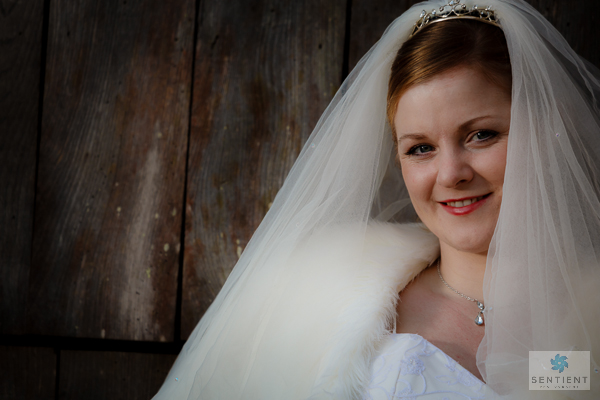 Bride Lacock Barn Door Portrait