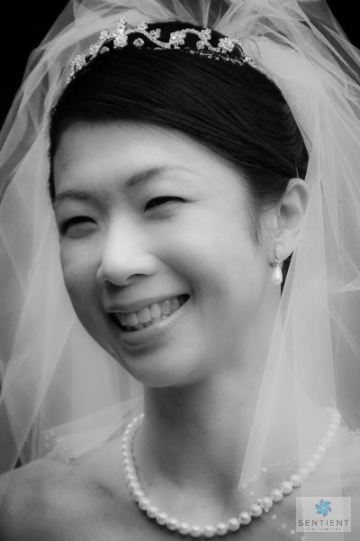 Bride Smile, B&W #1