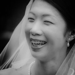Bride Smile, B&W # 2