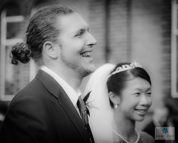 Bride & Groom Laughing