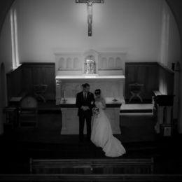 Groom & Bride From Church Balcony