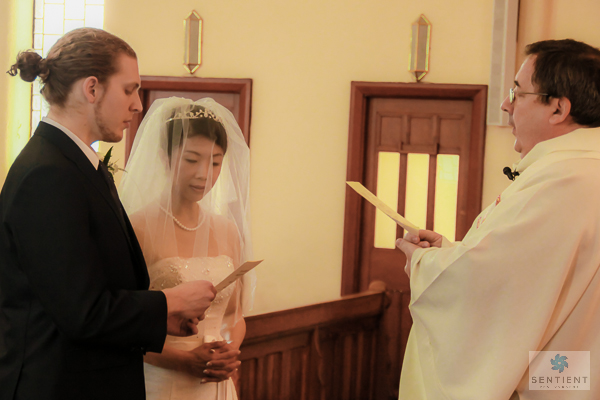 Groom & Bride Singing Hymn