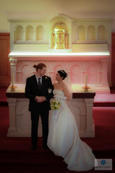 Groom & Bride's Look By Altar