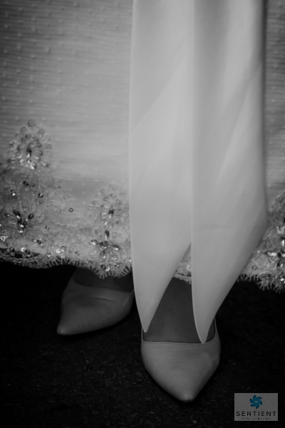 Wedding Dress Hem & Shoes