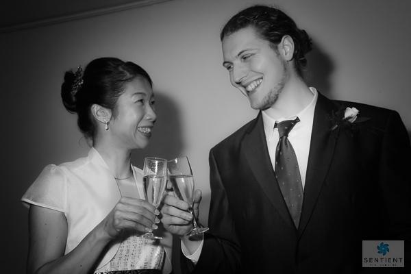 Bride & Groom Champagne Toast