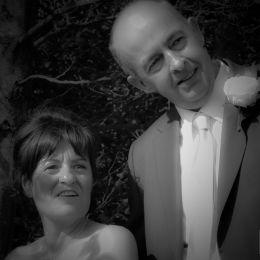 Bride & Groom Watching Wedding Guests