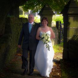 Bride's Walk to the Church