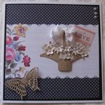 Flower Basket- Greeting card