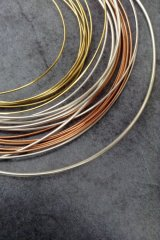 Silver copper & brass wire