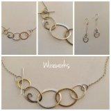 Silver & brass asymmetric chain