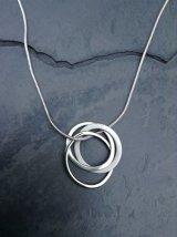 Triple hoop silver pendant £45