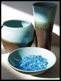 Blue & Brown Vases