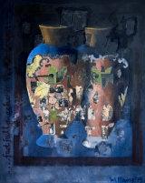 Burnt Norton: 150 x 120 cm.  oil, collage on canvas