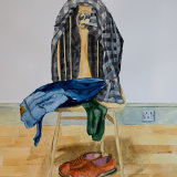 """Self Portrait (3),  """"Things I left behind"""":  watercolour on paper,  80 x 60 cm"""