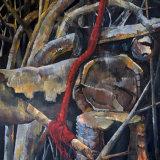 Rope Swing,  Richmond Park: oil on canvas,  150 x 120 cm