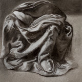 Drawing Study from Leonardo:  charcoal, chalk on paper,  25 x 25 cm