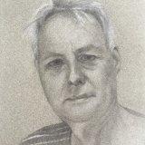 Nick:  pencil, chalk, grey paper, 20 x 15 cm
