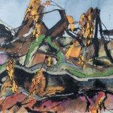 Rotting Landscape:  watercolour, gouache, ink on paper, 23 x 28 cm