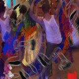 Dancers @ Dulwich ii:  iPhone photo, adobe sketch, photoshop