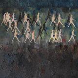 Passage:  oil, acrylic, ash on canvas.  150 x 120 cm