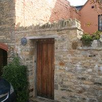 Stone wall doorway