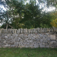 Drystone wall, complete wall