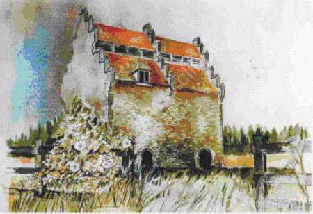 """Dove Cote 12""""x16"""" 1985  Watercolour"""