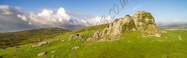 Aerial Dartmoor Hay Tor