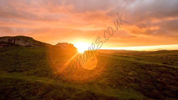Aerial Dartmoor Saddle Tor