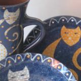 Cat Bowl Plate and Mug