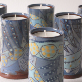Microblue candle holders