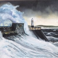 A stormy day at Porthcawl, South Wales