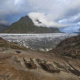 Stormy weather at the Great Aletsch glacier