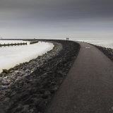 Winter at the Ijsselmeer (lake Ijssel)