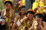 Bolivia La Paz Carnival Golden Girls